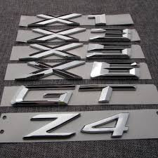 visit to buy chrome abs number letters word car trunk badge