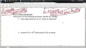mole problems worksheet u2013 episode 701 u2013 page 7 05 and page 7 06