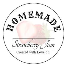 strawberry jam printable label templates ol350