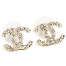 cc earrings chanel gold earrings ebay