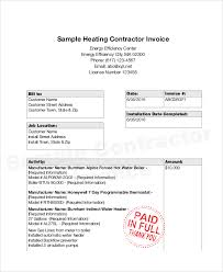 sample invoices the sample invoice for contract work is an easy