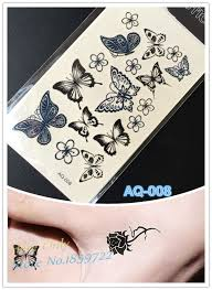 buy butterfly tattoos black and get free shipping on aliexpress com