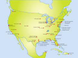 map of usa with major cities map collection gallery
