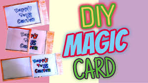 diy amazing magic card easy paper crafts happy toys for kids