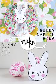 bunny egg cup bunny napkin ring egg cup 2 easter projects in 1 my poppet makes