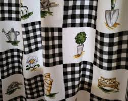 Retro Kitchen Curtains 1950s by Kitchen Curtains Etsy