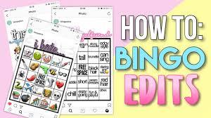 Cara Membuat Instagram Renhard | how to bingo edits how to make trendy bingo edits for instagram