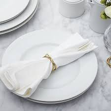crate and barrel napkins aria gold napkin ring in napkin rings place card holders