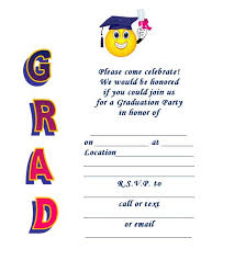 printable graduation invite smiley grad