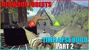 ark survival evolved tree platform redwood forests base build