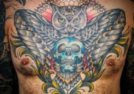 winged skull meaning knot meaning ideas chest
