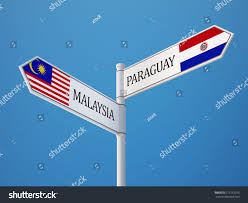 Paraguayan Flag Paraguay Malaysia High Resolution Sign Flags Stock Illustration