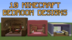 How To Make Decorations In Minecraft 10 Minecraft Bedroom Designs Youtube