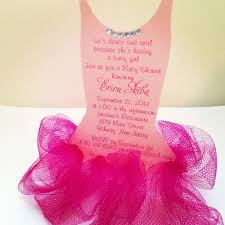 invitación para baby shower de bailarina ballerina baby shower