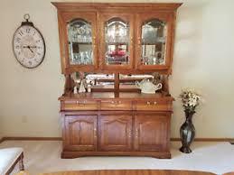 solid oak china cabinet solid oak china cabinet hutch lighted mirrors glass shelves buffet