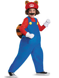 mario and luigi halloween costumes party city super mario brothers boys raccoon deluxe costume video games