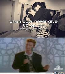 Never Gonna Give You Up Meme - never gonna give you up by abcorr97 meme center