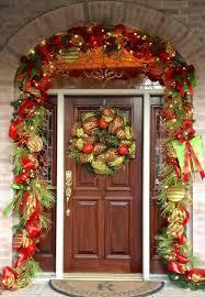 front door cool garland around front door design lighted garland
