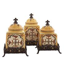 tuscan kitchen canister sets artimino yellow canisters dillards i want these home is
