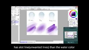 paint tool sai how to use the blending tools water color blur