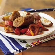 italian turkey sausage with three peppers recipe myrecipes