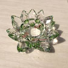 wholesale colorful votive crystal lotus tealight candle holders