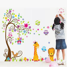bedroom deco kids promotion shop for promotional bedroom deco kids children s bedroom decor lion animal tree vinyl wall stickers kids baby children decor home wall paper decal deco art sticker bs