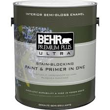 behr premium plus ultra 1 gal ultra pure white semi gloss enamel