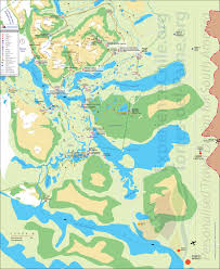 Patagonia Map Torres Del Paine Map For W Trek And Hotel Locations
