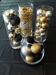 black and gold centerpieces for tables black and gold party table decorations party deco pinterest black