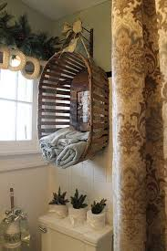 Small Bathroom Towel Storage Ideas Colors Wall Mounted Vintage Basket With Ribbon Used As Towel Storage