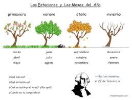 las estaciones y los meses handout u2013 printable spanish
