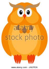 happy halloween background owl orange color stock photo