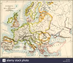 Map Pf Europe by Map Of Europe In The Time Of Charlemagne 768 814 Ad Stock Photo