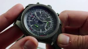 breitling bentley on wrist pre owned breitling for bentley gt3 chronograph luxury watch