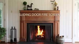 riveted fireplace screen with sliding door and tool set sku 13395