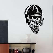 online get cheap football skull stickers aliexpress com alibaba g242 rugby american football gym sport skull creative wall decal vinyl sticker home decor boy s room