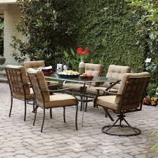 Low Price Patio Furniture - garden treasures eastmoreland brown 7 piece outdoor dining set