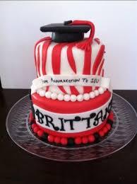 red u0026 black u0026 white graduation cake cakes by cathy chicago