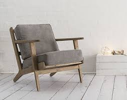 scandinavian armchair mid century modern danish style armchair from swoon editions