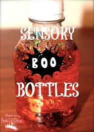 mom to 2 posh lil divas halloween fun sensory boo bottles for kids