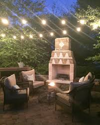 Patio String Lighting by How To Hang Outdoor String Lights From Thrifty Decor