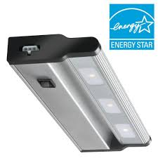 xenon or led under cabinet lighting commercial electric 12 in led silver under cabinet light 2 pack