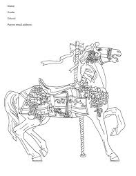121 best carousel animal coloring pages images on pinterest