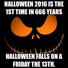 halloween falls friday 13th 666