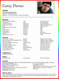 actor resume template actors resume template unique actor resume exles unique actors