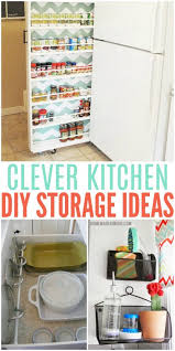 clever kitchen storage ideas clever diy storage ideas for the kitchen