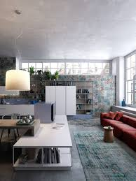 modern loft furniture home designs stunning red sofa 7 inspirational loft interiors