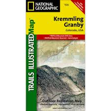 Colorado Ohv Trail Maps by 106 Kremmling Granby Trail Map National Geographic Store