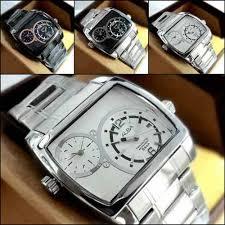 Jual Jam Tangan Alba jam tangan alba dualtime analog square stainless